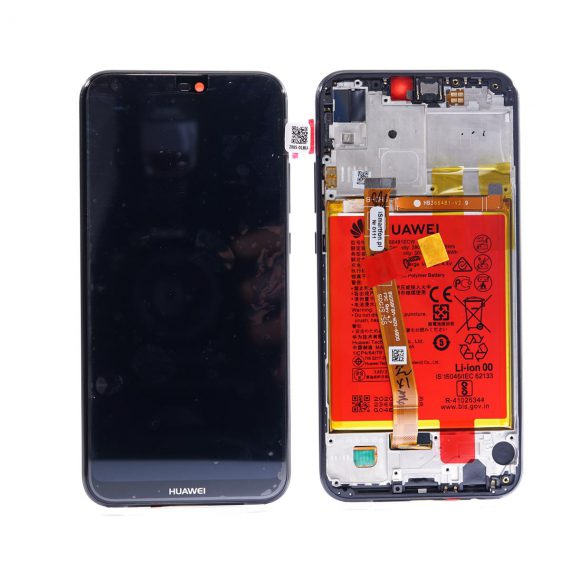 Huawei P20 Lite Black Lcd Screen In Service Pack Ismartfon.pl
