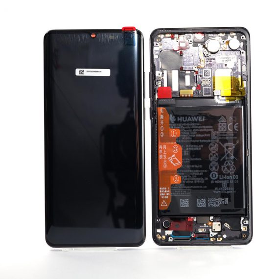 Huawei P30 Pro Black, Lcd Screen In Service Pack Ismartfon.pl
