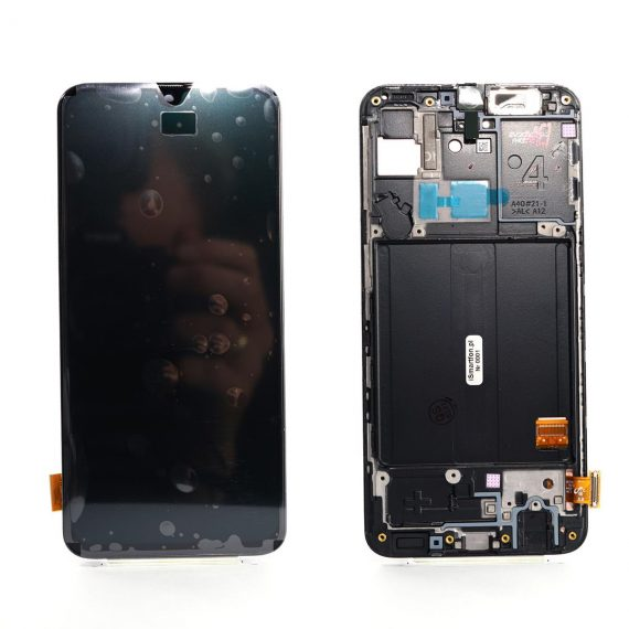 Samsung A40 SM A405F Front Side, Lcd Screen In Service Pack Ismartfon