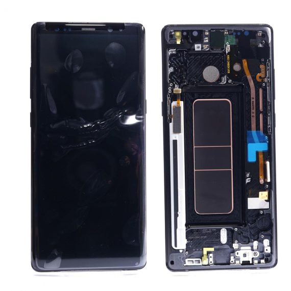 Samsung N950f Note 8 Black Front And Back Side, Lcd Screen In Service Pack Ismartfon.pl
