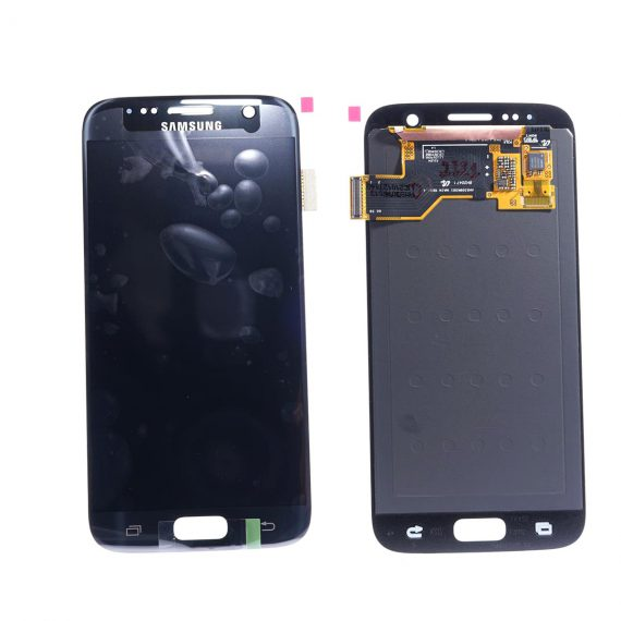 Samsung S7 G930f Black Front And Back Side, Lcd Screen In Service Pack Ismartfon.pl